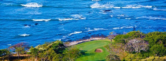 Famous Hole #15, a tough par 3 called the Shark Hole
