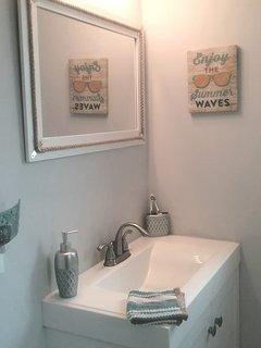 New vanity and toilet