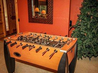 Foosball table in living room