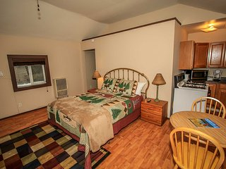Cozy Lodge Studio For Two~Fireplace~Kitchen~Close To Town~Pets Ok~Free WiFi~