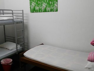 Guests are encourage to use room 1 with 1 bunk bed and 1 single bed, sleep up to 3