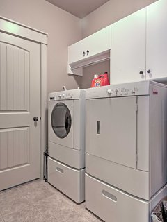 The in-unit laundry machines ensure your clothes will stay fresh and clean all vacation long!