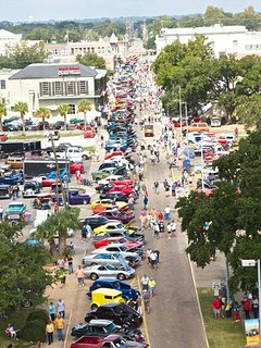 Jeff Davis Ave during 'Crusin on the Coast' in Oct.--2 blocks from Cottage