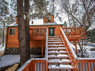 Nine Pines Lodge~Warm & Toasty Living Room~Jetted Spa Tub~Laundry~, Big Bear City