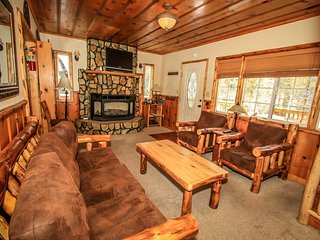Nine Pines Lodge~Log Cabin~Warm & Toasty Living Room~Jetted Spa Tub~Laundry~