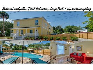 Downtown  Saint Augusine - Historic Lincolnville. Private backyard, large pool., Saint Augustine
