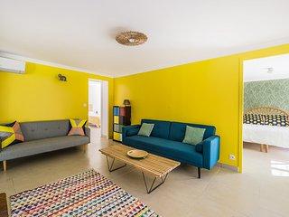 Les Petits Gardons / Gîte Posto Nove pour 3 personnes avec piscine intérieure, Castillon-du-Gard