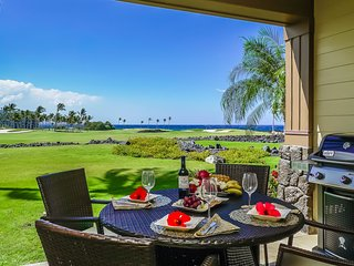 Luxury Halii Kai resort Ocean/golf course view 12C-Clean/Resort Fees Incl Weekly, Waikoloa