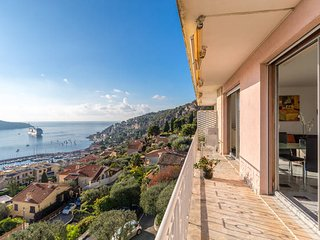 Penthouse with 270-deg Sea View above Villefranche, Villefranche-sur-Mer
