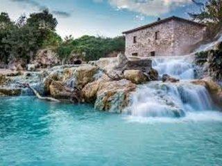 Saturnia, thermal (37°) water free falls