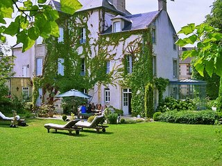 5 Acres property in town with stunning chateau, swimming pool, home cinema at D-