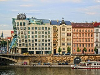 Apartment 502 m from the center of Prague with Lift, Balcony, Washing machine