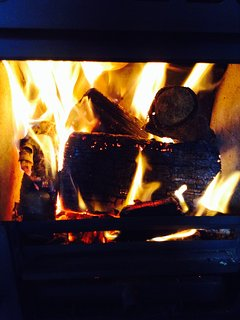Spa treatments, relax by the log burning stove after