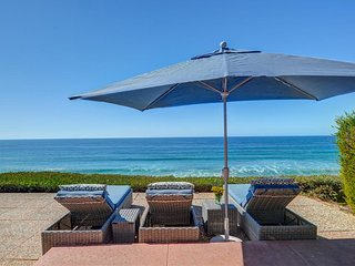 Listen to the waves from this oceanfront luxury home with private hot tub!