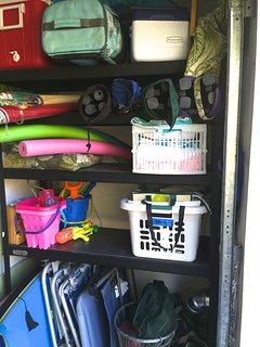 Beach & Pool Toys, coolers, towels, boogie boards, bocce ball, crochet, chairs, umbrellas, etc.