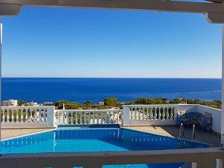 Gorgeous house with pool & sea view, Achlia