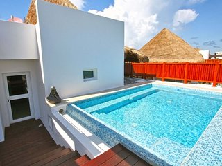 Your private rooftop terrace with pool and outdoor shower