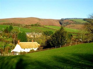 THE DAIRY, detached, thatched cottage, private garden, pet-friendly, WiFi, nr Wa