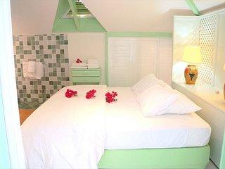 A colorful Hotel Unit on the beach, Saint-Martin
