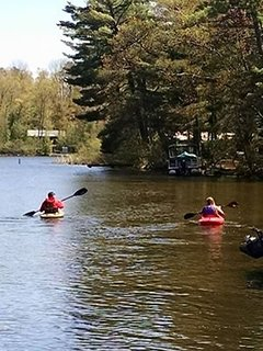 kayak the lake into the connecting creeks and lakes