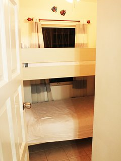 Second bedroom with bunk bed