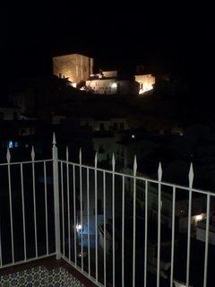 Vista nocturna del Conjunto Histórico desde la terraza