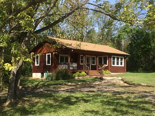 Deluxe 1 BR Riverfront Cabin with Hot Tub on 54 River Front Acres near Luray, VA