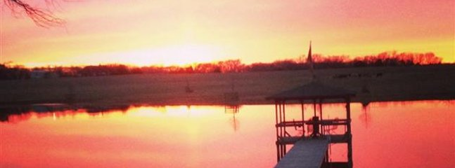 The best sunset can be found on the lake!