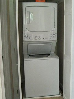 Washer dryer in unit