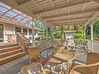 Enjoy your morning coffee on the private covered patio.
