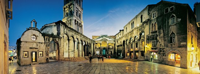 Famous town Split with a lot history attractions