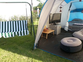 Private Tent with Panoramic views.