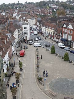 BATTLE HIGH STREET FROM THE ABBEY TURRETS
