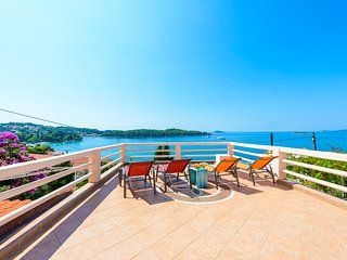 Furnished terrace offering panoramic sea view