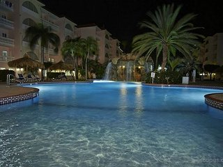 Front pool at night..