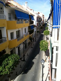 View on Palangreros street from the Dining Room's window