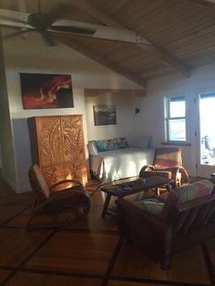 Living room of Hokulani Kai, Kapoho, Hawaii