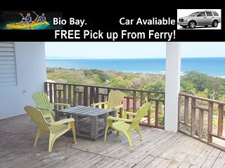 Ocean View & Beach house up to 13! Car avaliable ! Free Beach Chairs, Cooler, Isabel Segunda