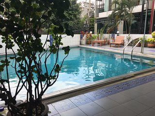 high end 2 bedrooms apartment night market, opposite Wat Chaimonkol monastery, Chiang Mai
