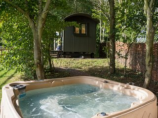 Hop Pickers Hideaway Luxury Shepherds Hut + hottub, Worcester