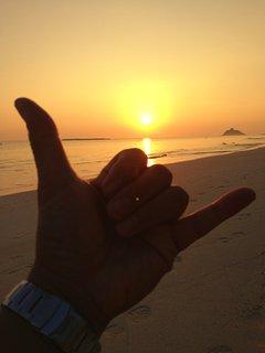 Kailua Sunrise Shaka :)