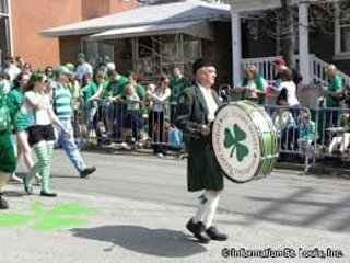 St. Patrick's parade at Dogtown, 5 minutes walking distance from the property.