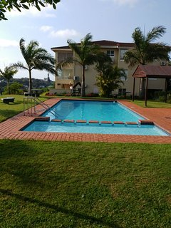 Pool, childrens play area and Barbeque area all-in-one for the whole family to enjoy with fab views