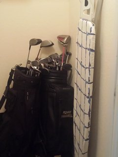 Golf Clubs in Condo for Guests use