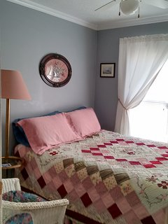 Handmade Quilt on Queen Bed