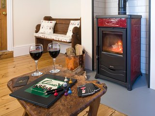 The Snug with Italian wood burning stove