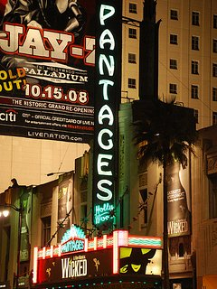 Across the street from Pantages