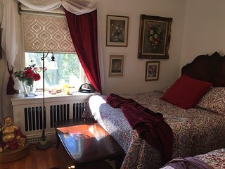 The Red Bedchamber with ensuite at Clonmel Castle, Port Dover