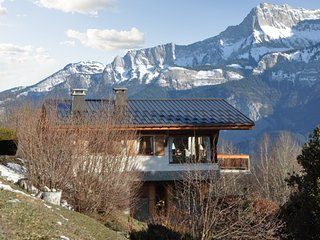 Spacious chalet with mountain view