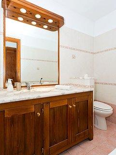 Bathroom with bath, shower, basin & WC